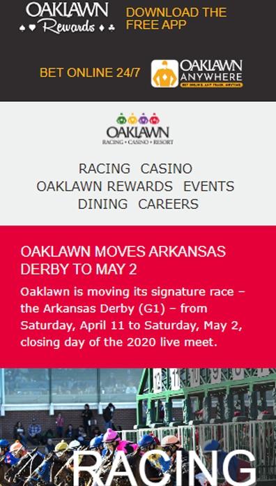Oaklawn Racing App
