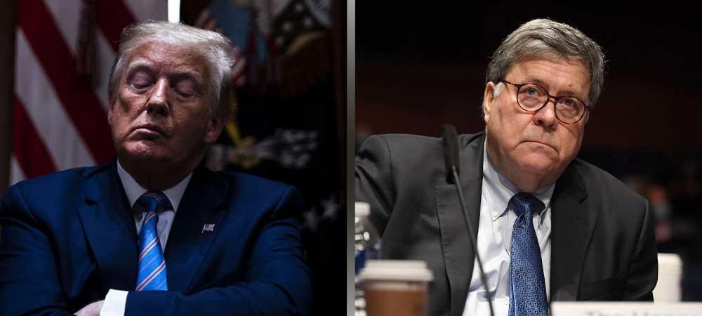 Will Donald Trump Fire Bill Barr Via Twitter? Odds Say Yes